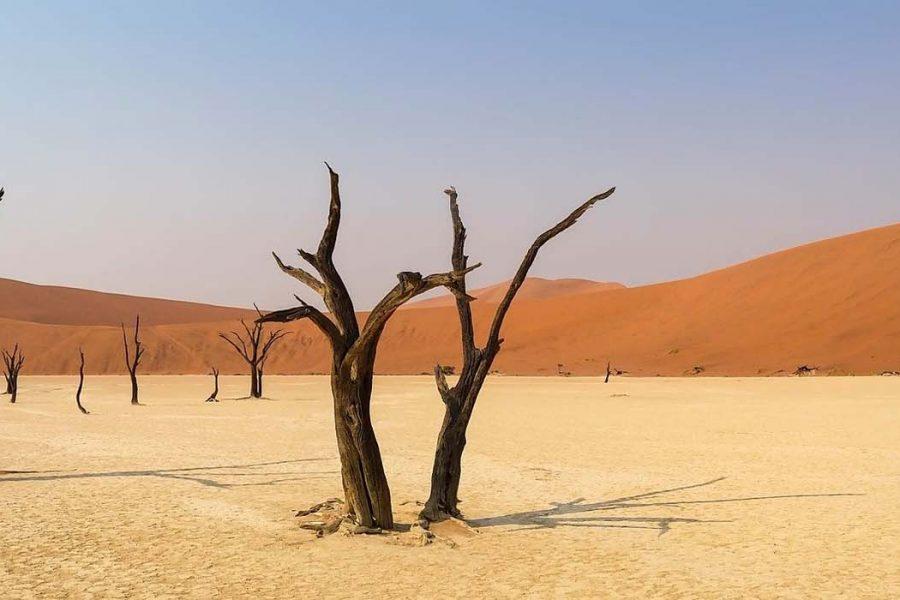 africa namibia landscape desert dunes